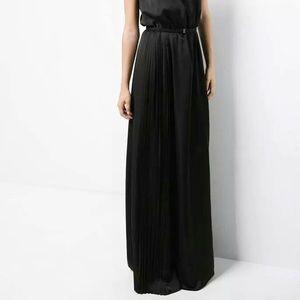 NWT Maxi Formal Skirt Zip Shiny High Waist